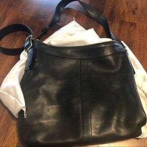Vintage black Coach Satchel